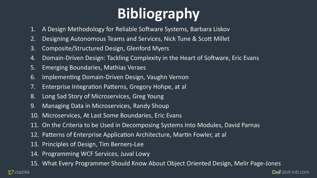 vladikk doit-intl.com Bibliography 1. A Design ...