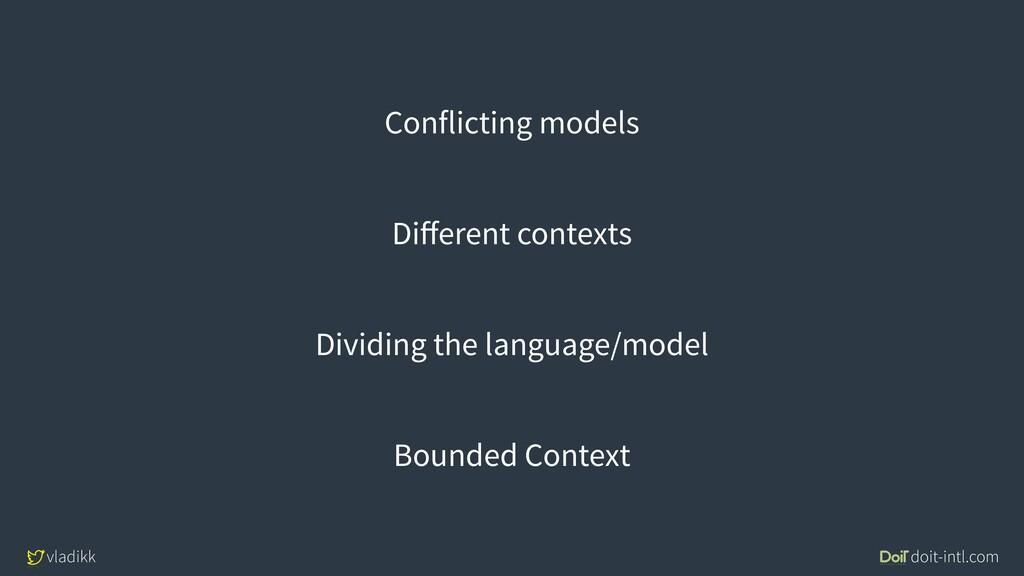 vladikk doit-intl.com Conflicting models Differe...