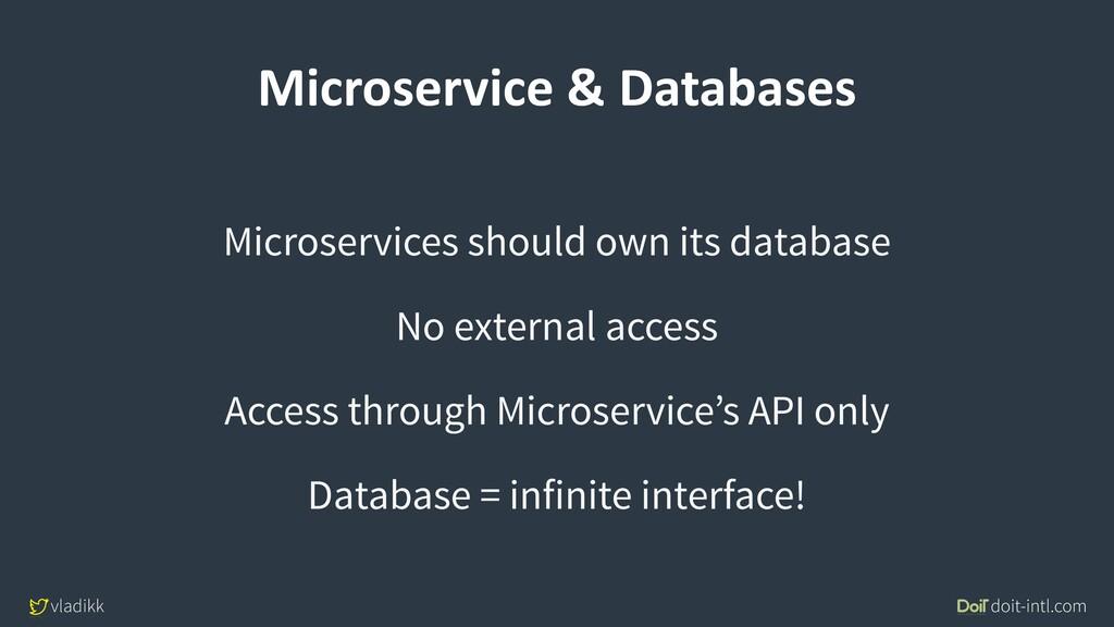 vladikk doit-intl.com Microservice & Databases ...