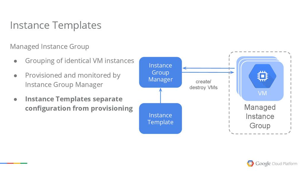 create/ destroy VMs Instance Group Manager Inst...