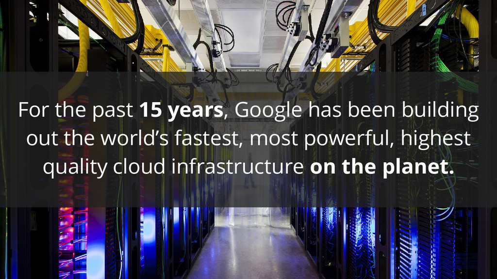 For the past 15 years, Google has been building...