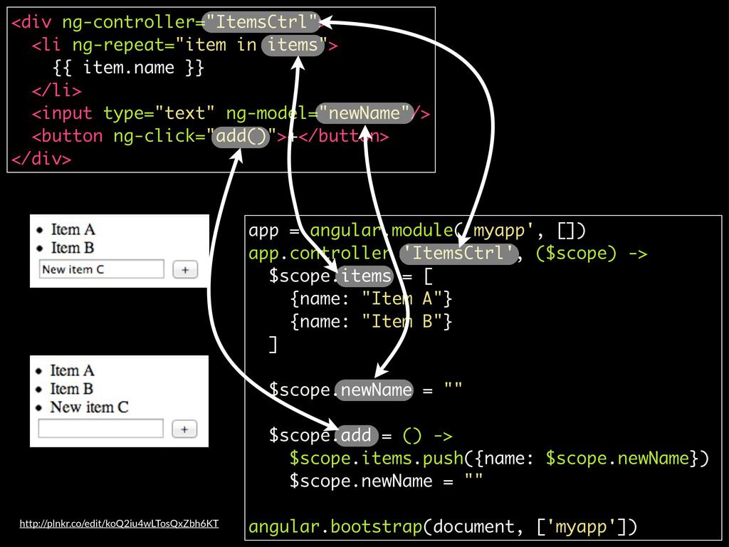 app = angular.module('myapp', []) app.controlle...