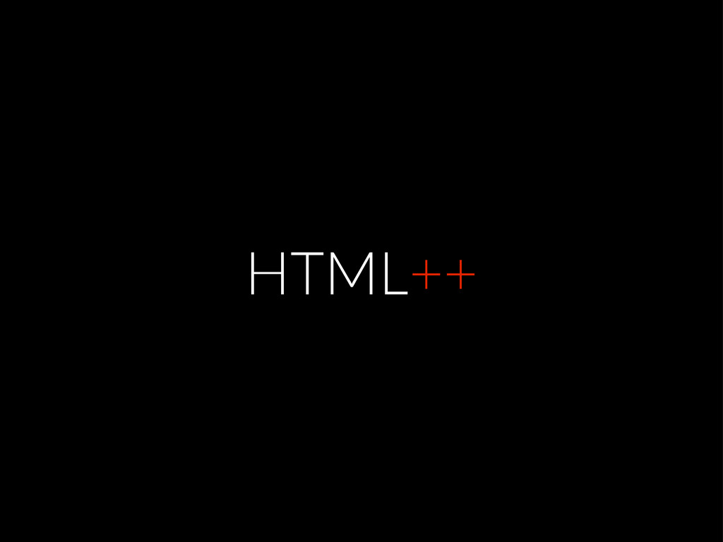 HTML++