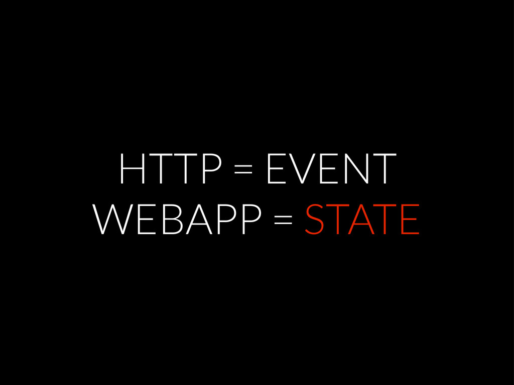 HTTP = EVENT WEBAPP = STATE