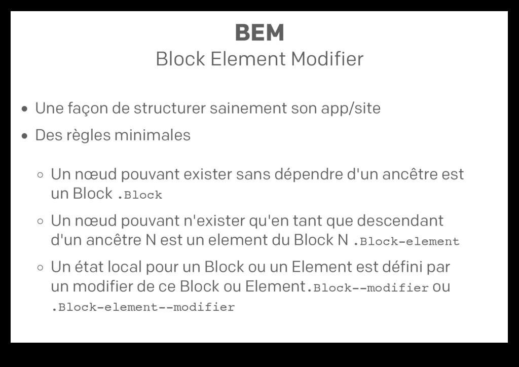 BEM Block Element Modifier Une façon de structu...