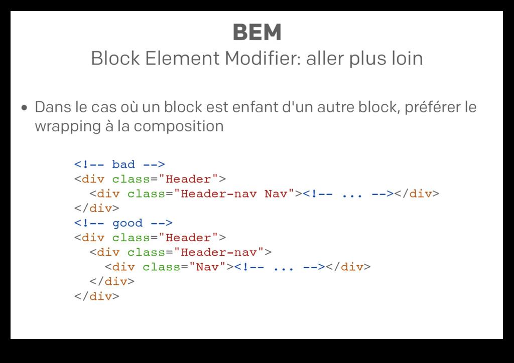 BEM Block Element Modifier: aller plus loin Dan...