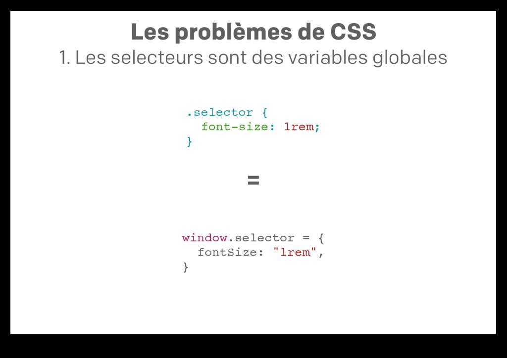 Les problèmes de CSS 1. Les selecteurs sont des...