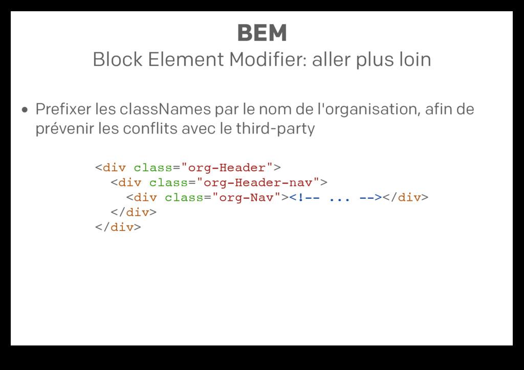 BEM Block Element Modifier: aller plus loin Pre...