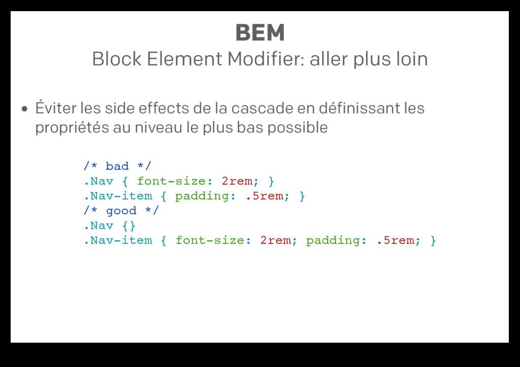 BEM Block Element Modifier: aller plus loin Évi...