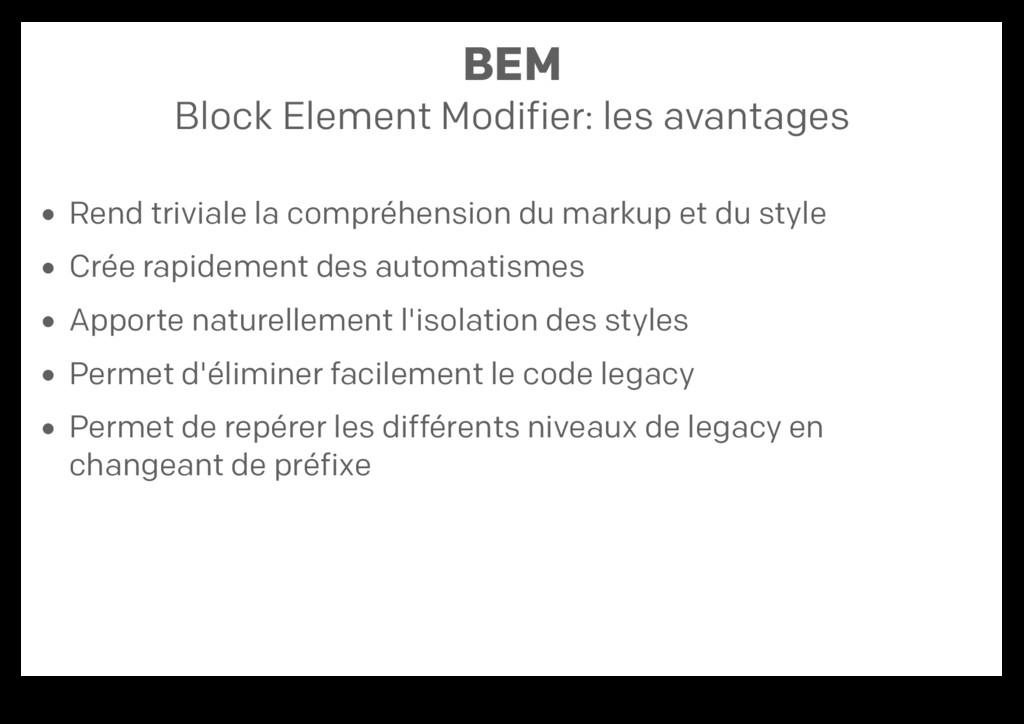 BEM Block Element Modifier: les avantages Rend ...