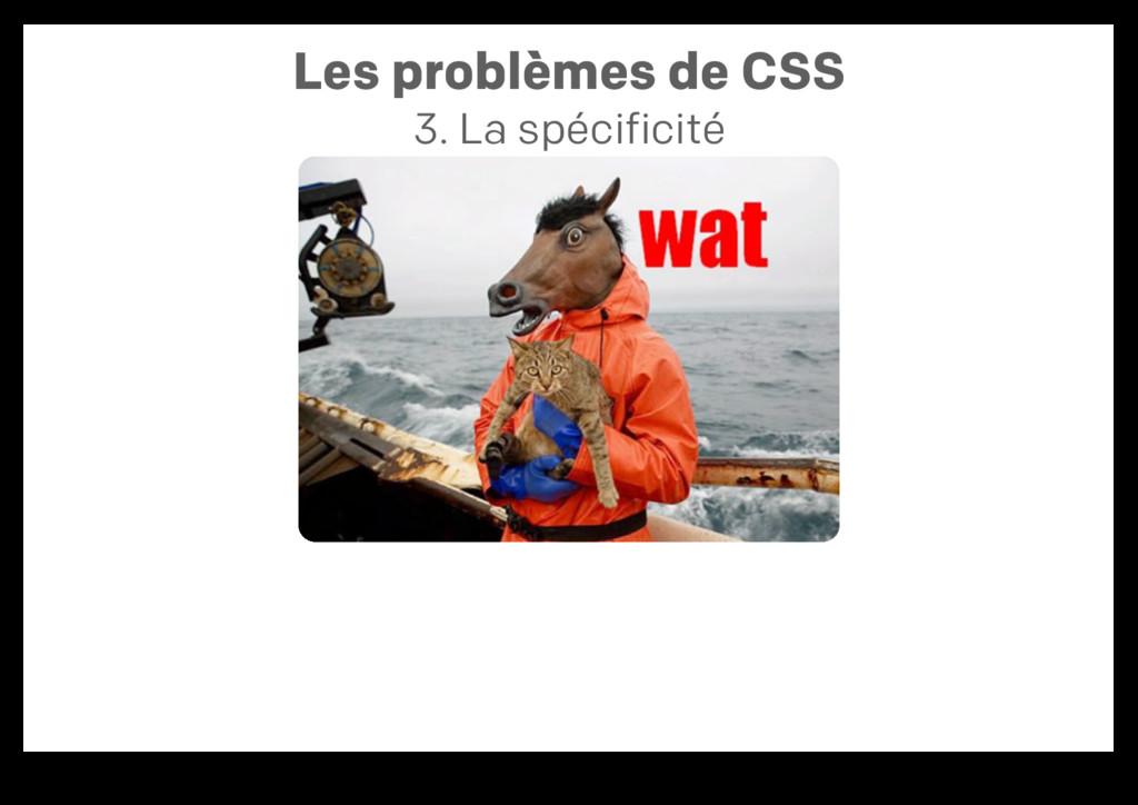 Les problèmes de CSS 3. La spécificité