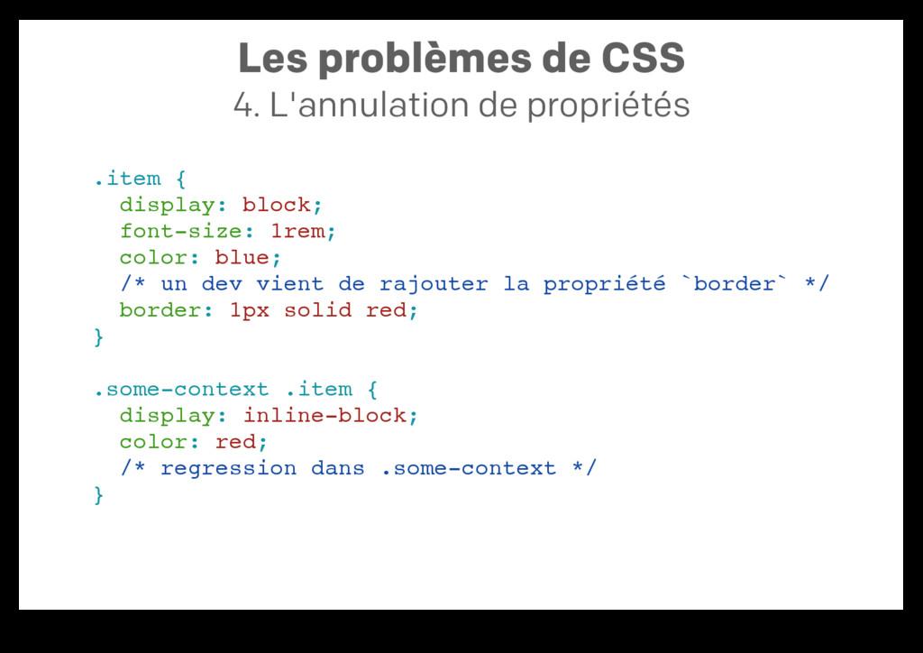 Les problèmes de CSS 4. L'annulation de proprié...