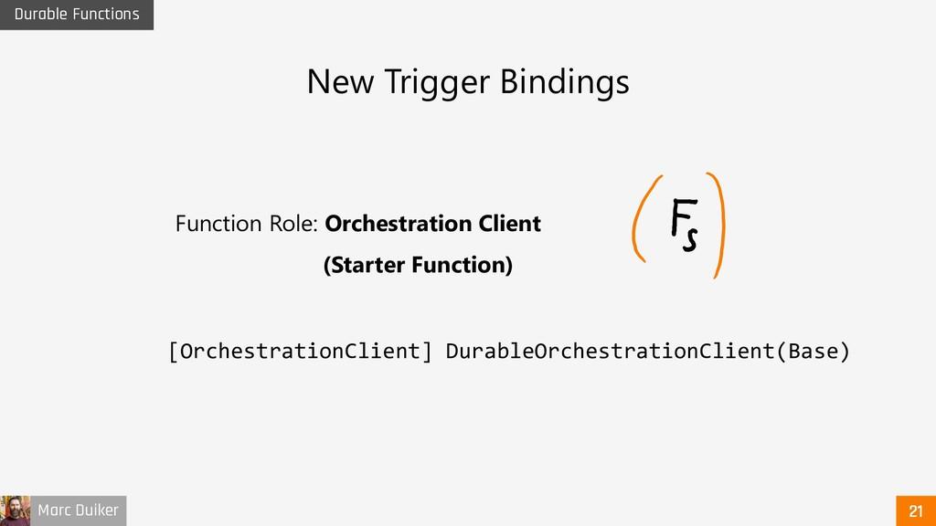 Marc Duiker Durable Functions New Trigger Bindi...