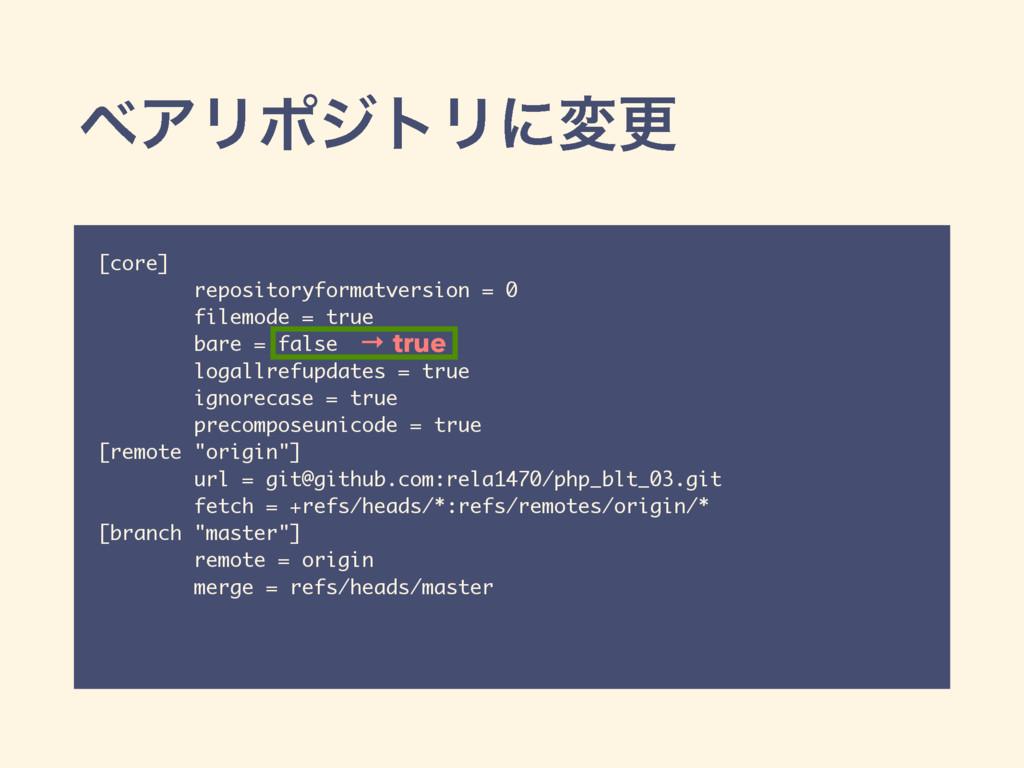 ϕΞϦϙδτϦʹมߋ [core] repositoryformatversion = 0 f...