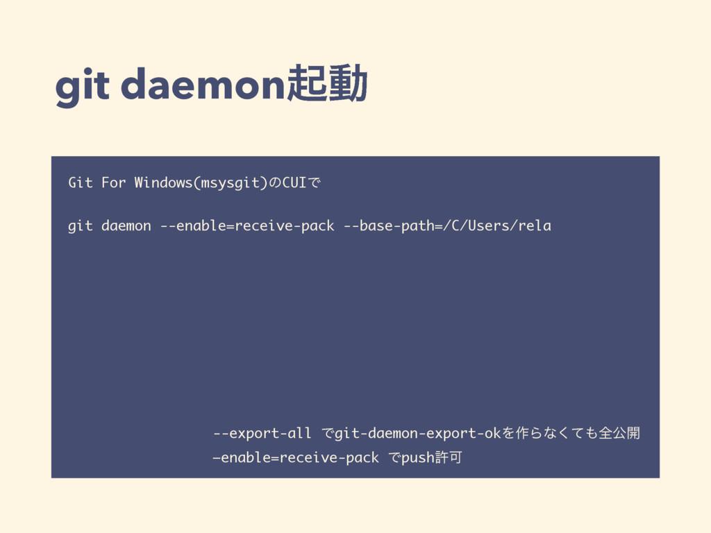 git daemonىಈ Git For Windows(msysgit)ͷCUIͰ git ...
