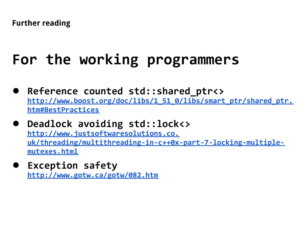 Further reading For the working programmers ● R...