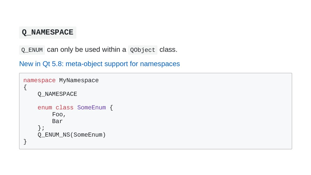 Q_NAMESPACE Q_ENUM can only be used within a QO...