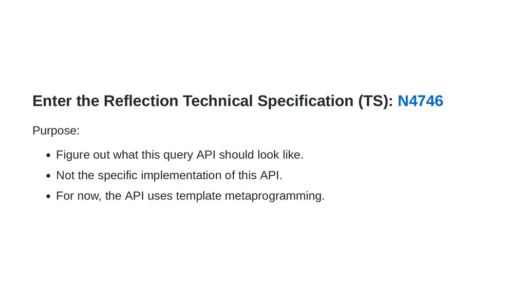 Enter the Reflection Technical Specification (T...