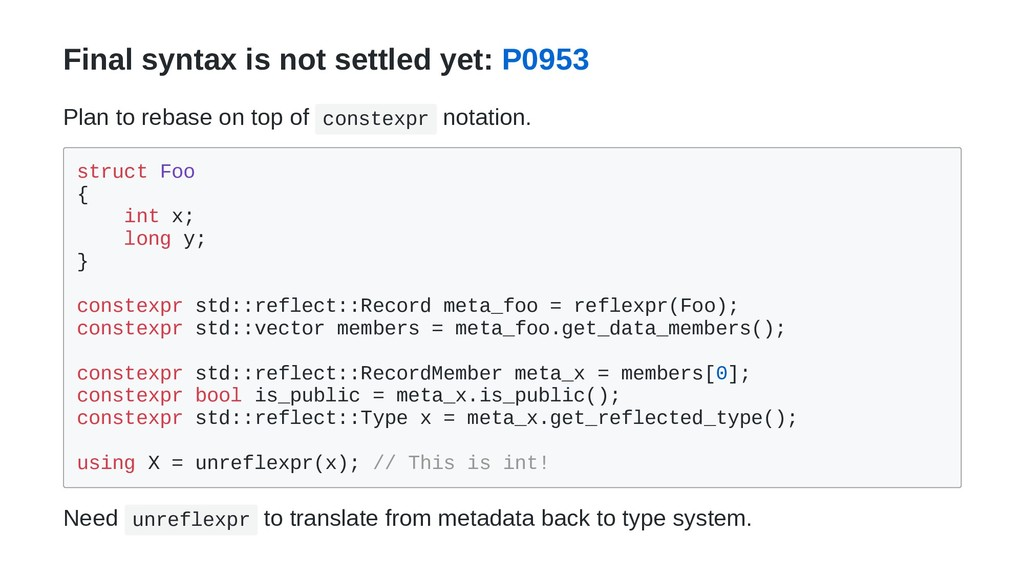 Final syntax is not settled yet: P0953 Plan to ...
