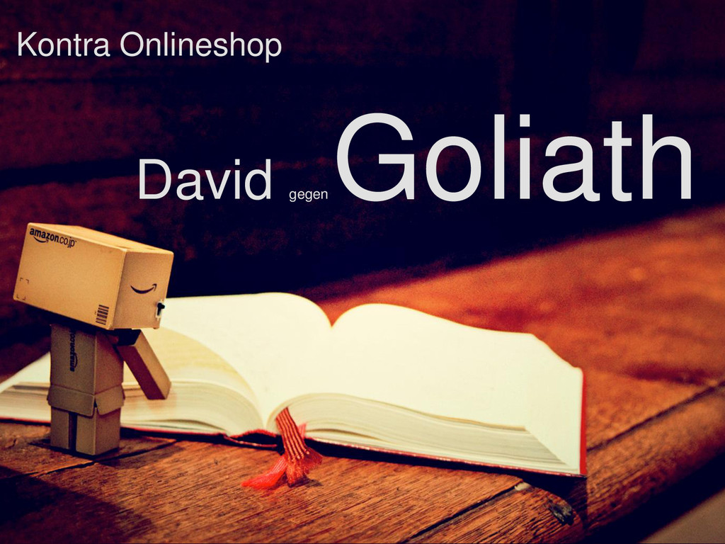 Kontra Onlineshop David gegen Goliath