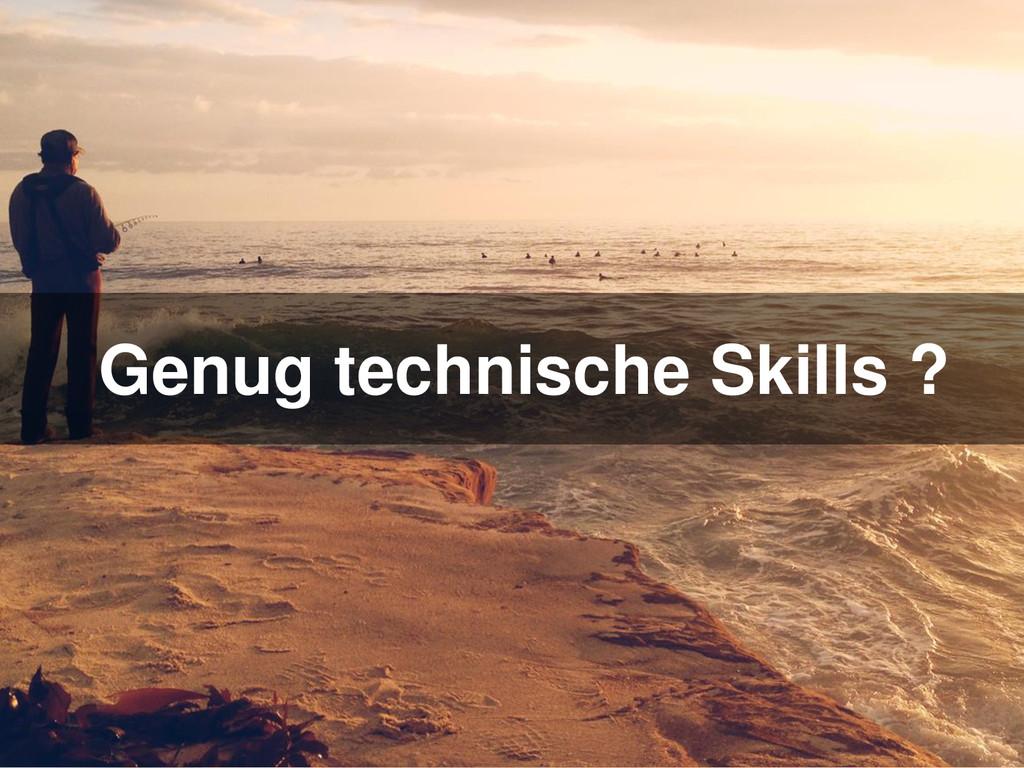 Genug technische Skills ?