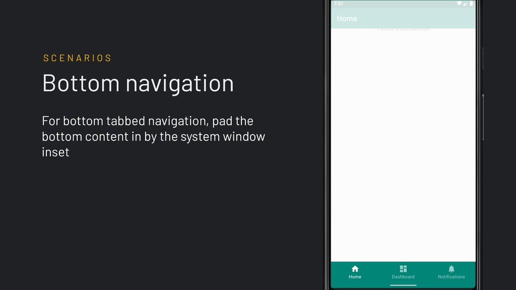 Bottom navigation For bottom tabbed navigation,...