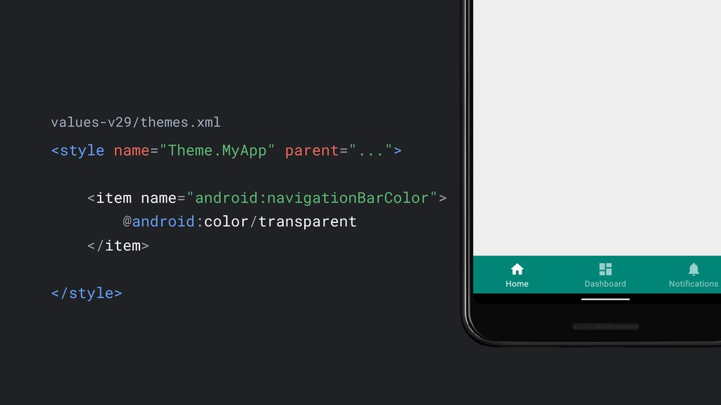"<style name=""Theme.MyApp"" parent=""...""> <item n..."