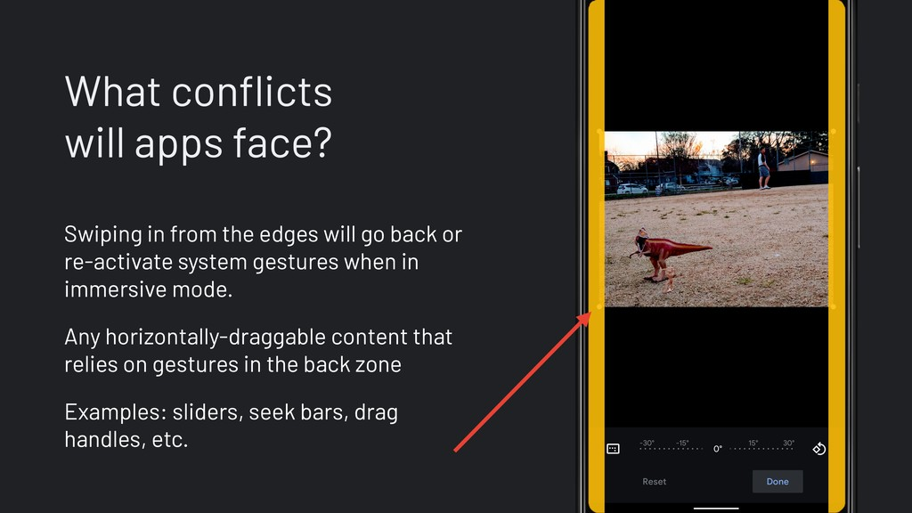 What conflicts will apps face? Swiping in from ...