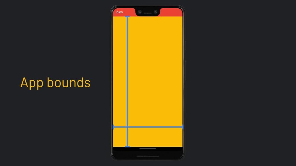 App bounds 10:00