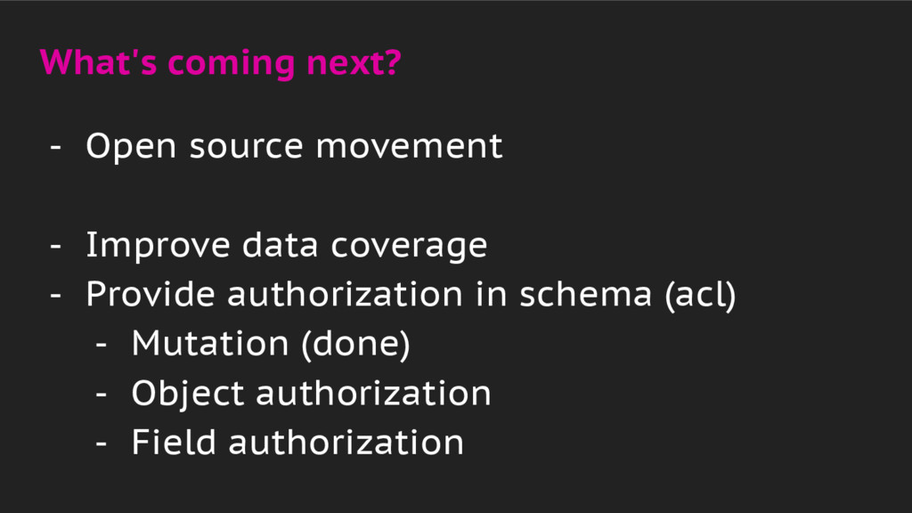 What's coming next? - Open source movement - Im...