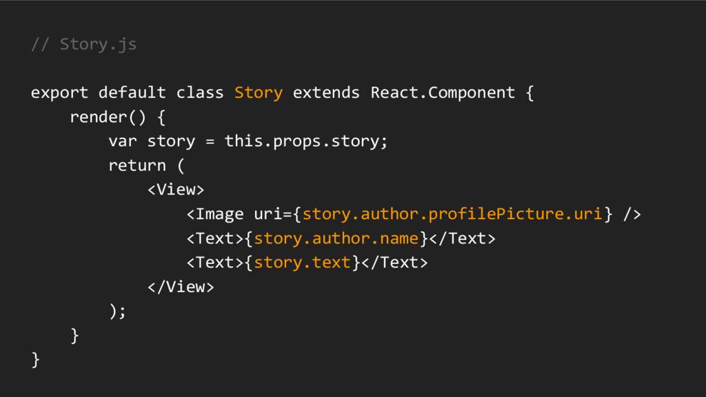 // Story.js export default class Story extends ...