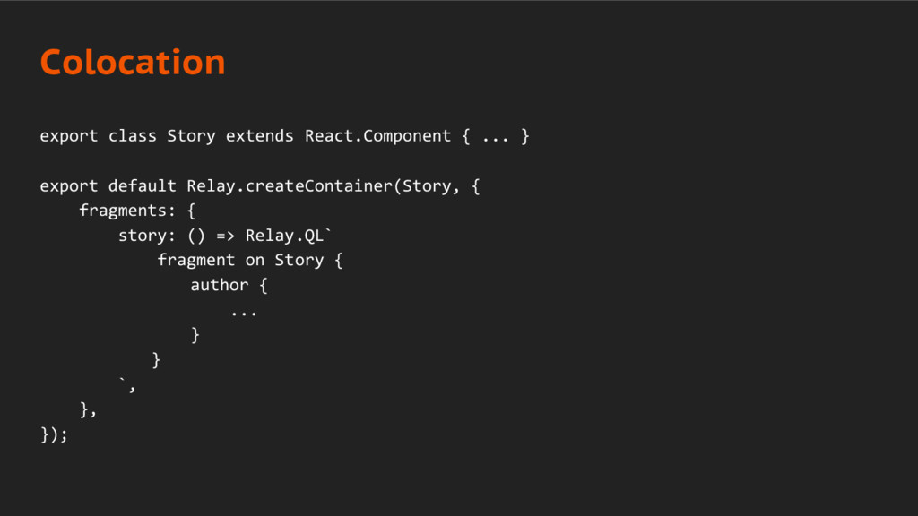 export class Story extends React.Component { .....
