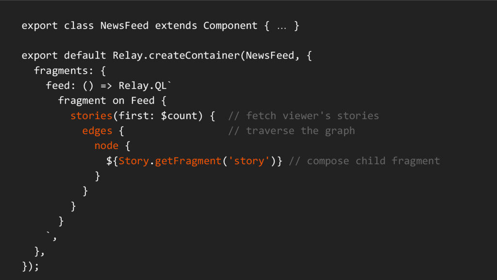 export class NewsFeed extends Component { … } e...