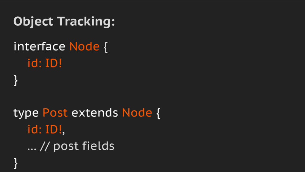 interface Node { id: ID! } type Post extends No...