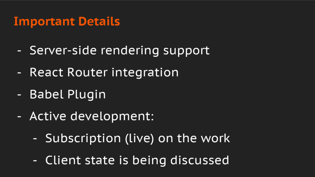 - Server-side rendering support - React Router ...
