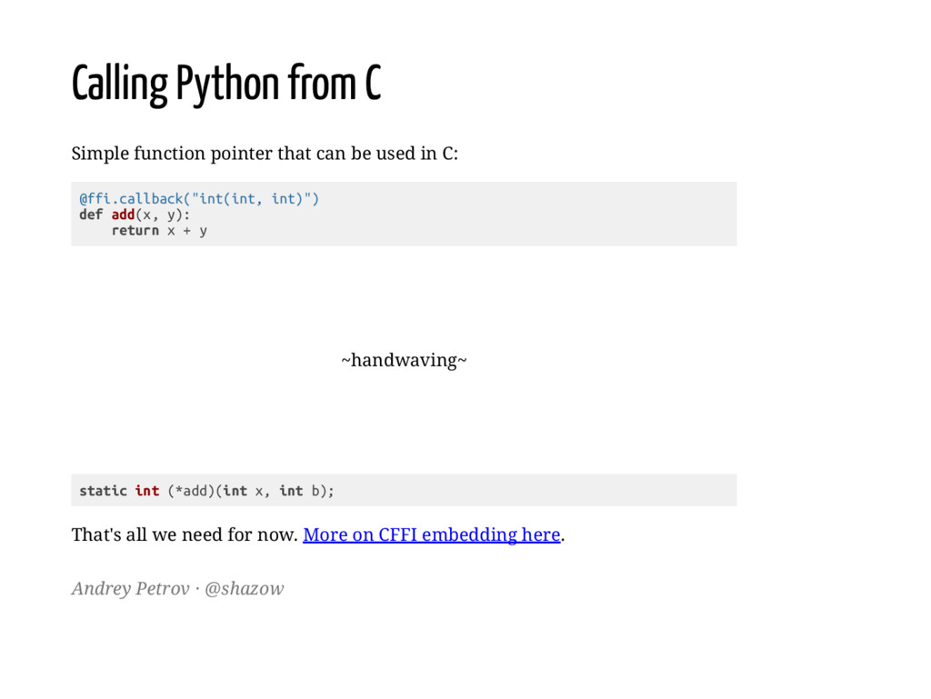 Calling Python from C Simple function pointer t...