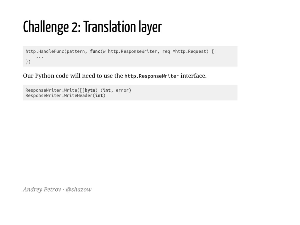 Challenge 2: Translation layer h t t p . H a n ...