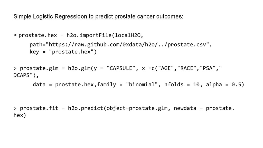 Simple Logistic Regressioon to predict prostate...