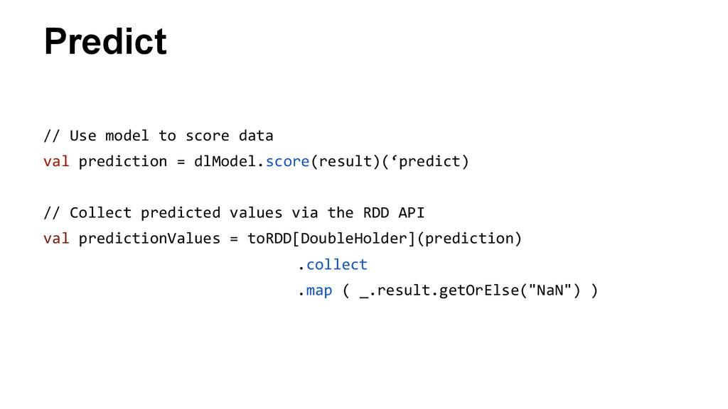 Predict // Use model to score data val predicti...