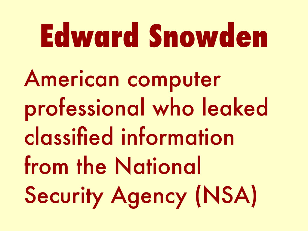 American computer professional who leaked class...