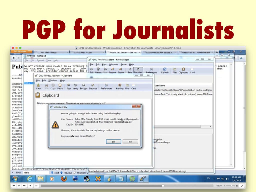 PGP for Journalists