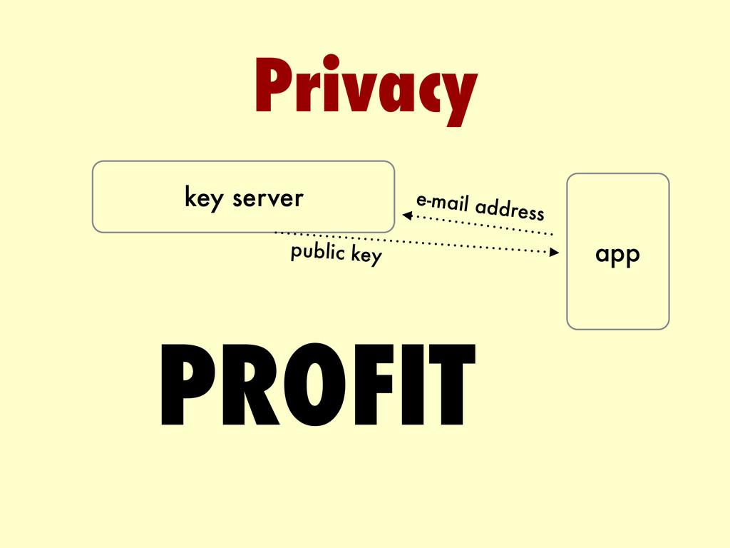 Privacy key server app e-mail address public ke...