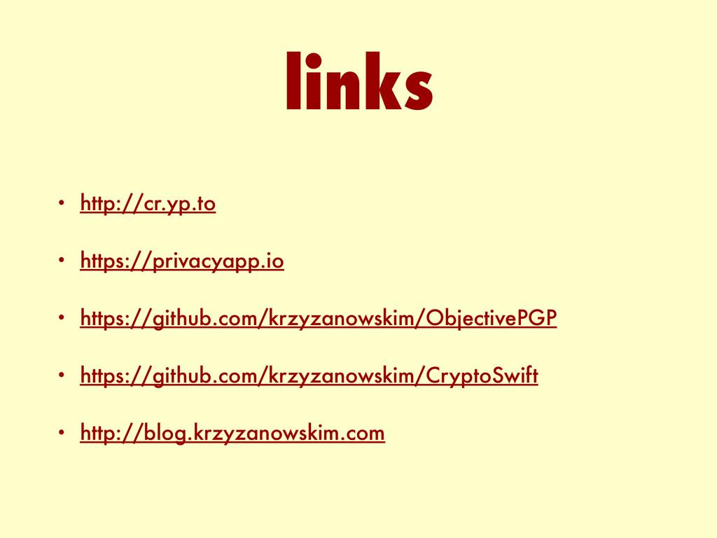• http://cr.yp.to • https://privacyapp.io • htt...