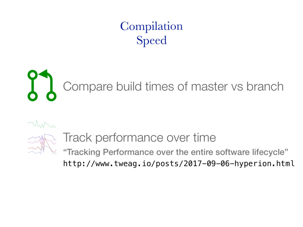 Compilation Speed Compare build times of master...