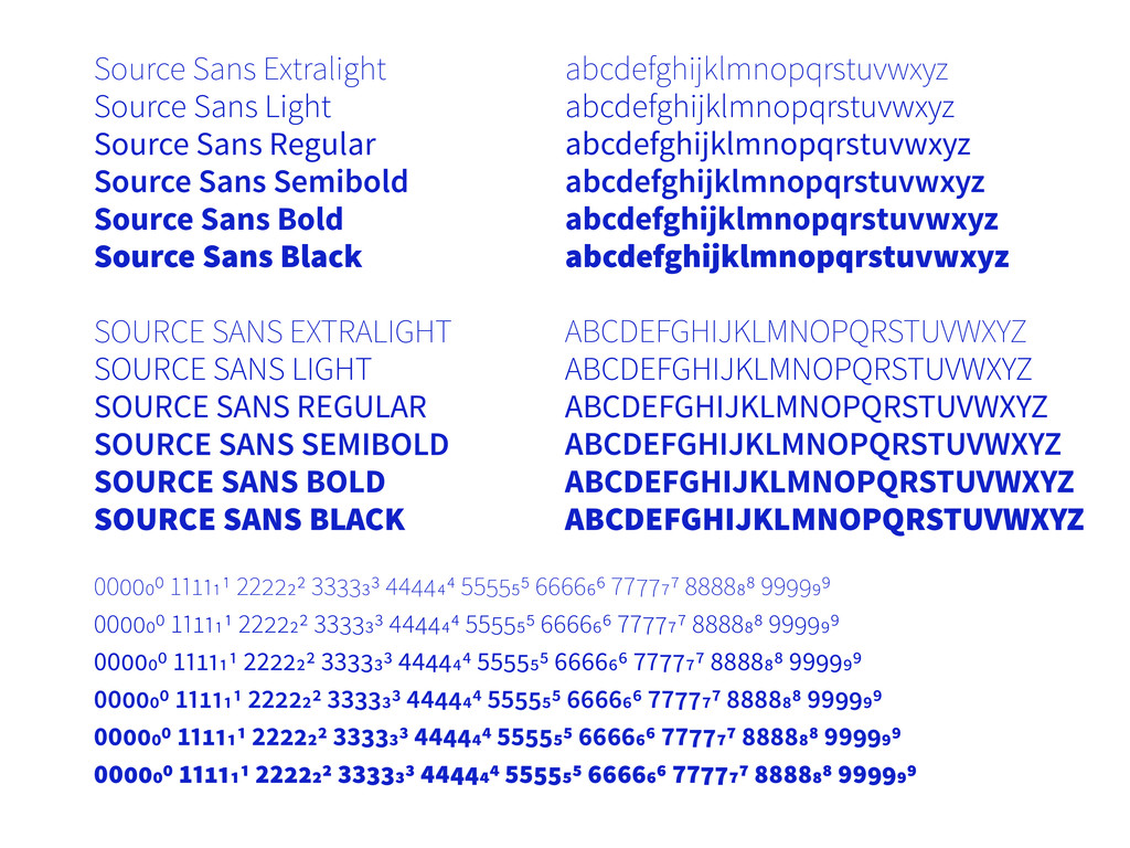 Source Sans Extralight Source Sans Light Source...
