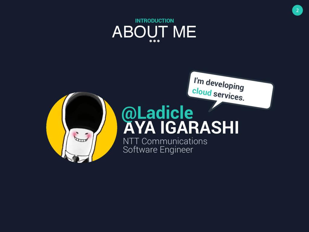 2 ABOUT ME INTRODUCTION AYA IGARASHI @Ladicle N...