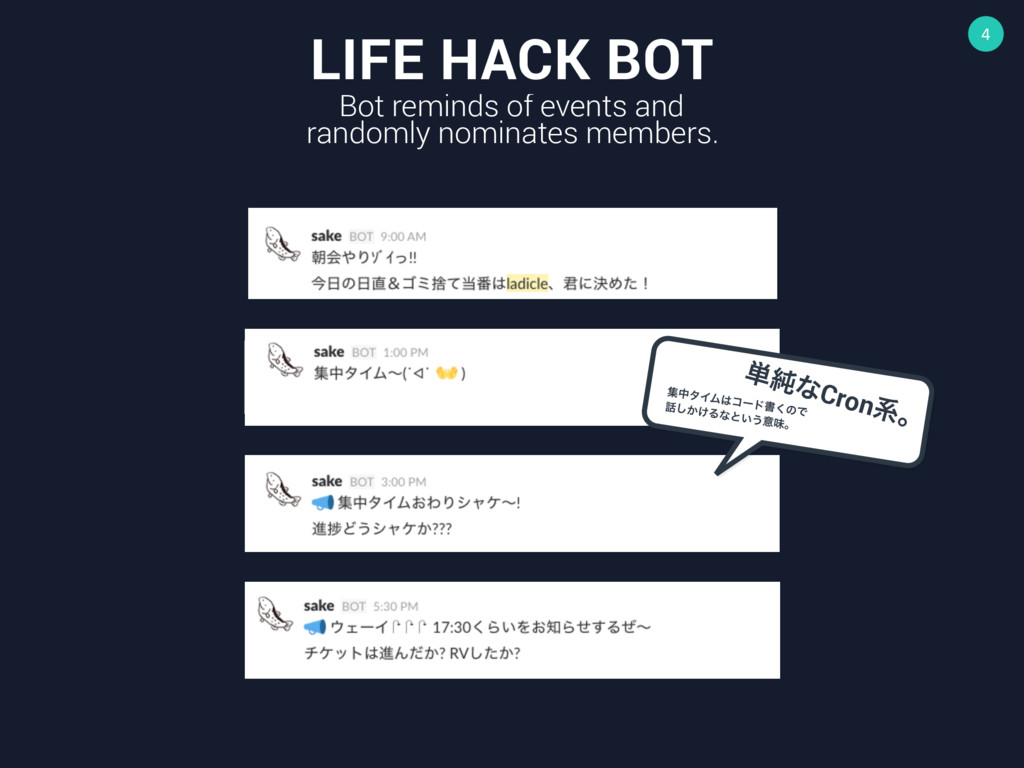 4 LIFE HACK BOT Bot reminds of events and rando...