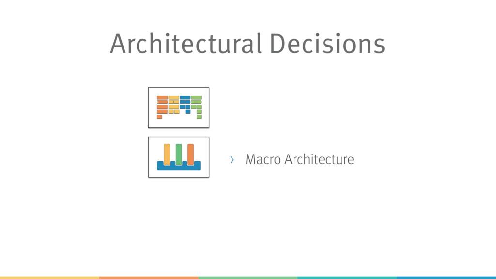 Architectural Decisions > Macro Architecture