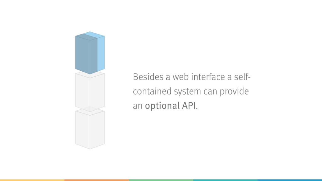 Besides a web interface a self- contained syste...