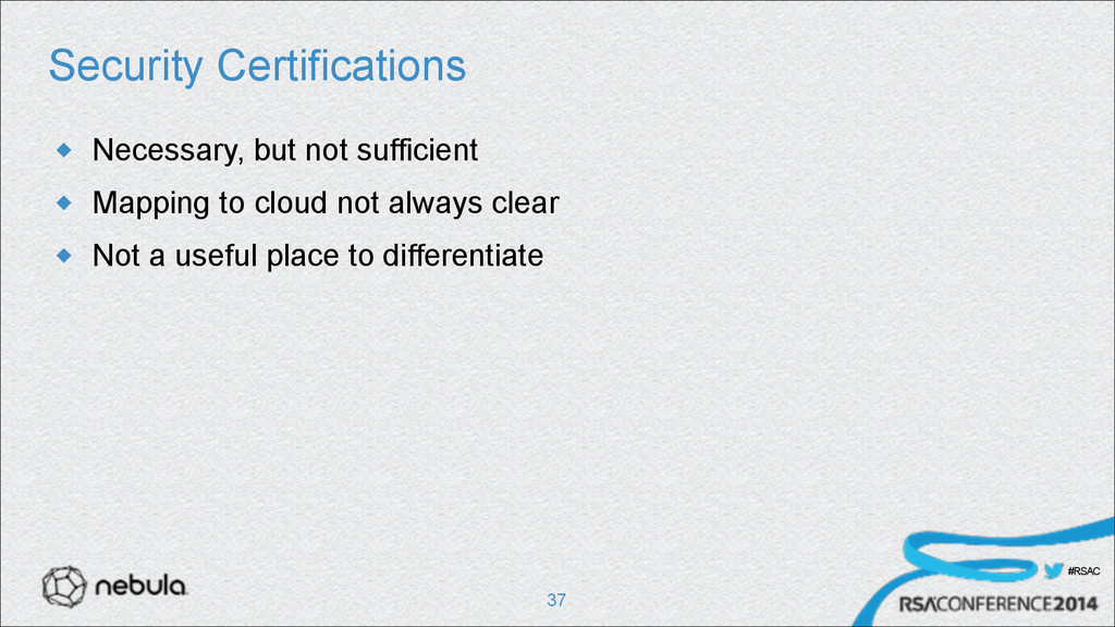 #RSAC Security Certifications u Necessary, but...